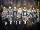 Miriam Vlaming: Minorities, 2006, Eggtempera on canvas, 130 x 160 cm