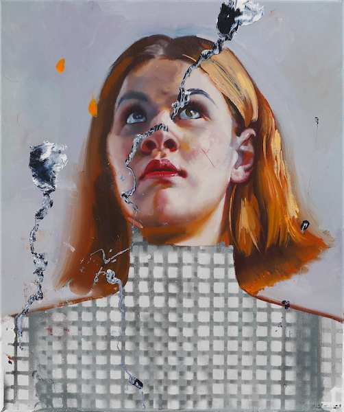 Rayk Goetze: Persona 1, 2020, oil and acrylic on canvas, 60 x 50 cm