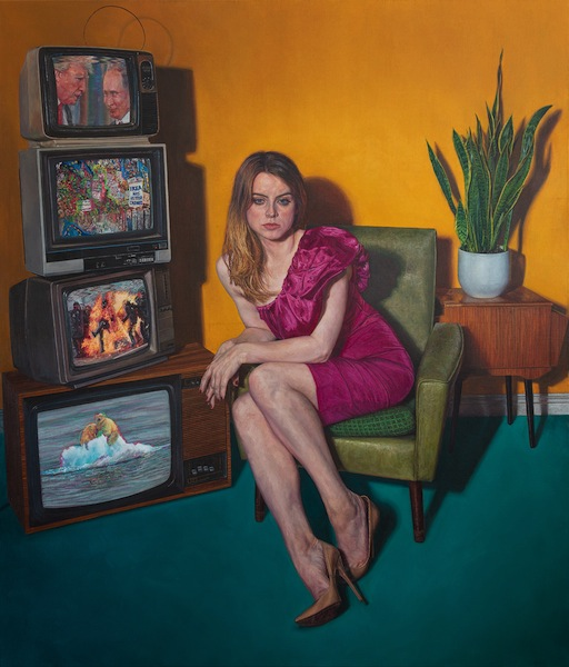 Ian Cumberland: Viewer, 2019, oil on linen, 140 x 120 cm