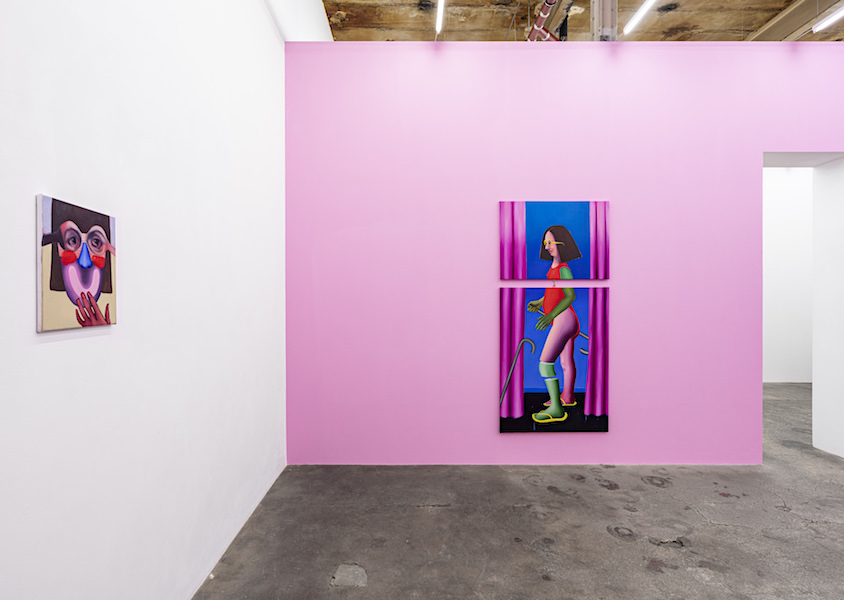 Ivana de Vivanco: Pink Maneuver, 2021, Josef Filipp Galerie, installation view 2