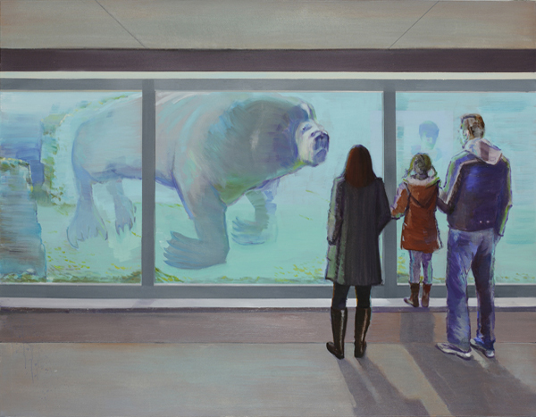 Verena Landau: Waiting for Stars 05, 2011/12, oil on canvas, 140 x 180 cm