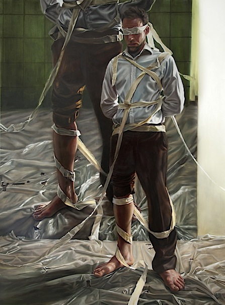 David O'Kane: Blindsight—Reenactment, 2012, oil on linen, 340 x 250 cm