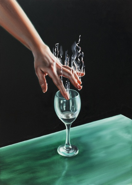 David O'Kane: The Glass Harmonica VI, 2016, oil on canvas, 70 x 50 cm