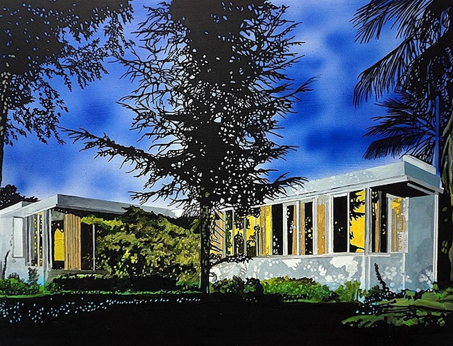Eamon O'Kane: Neutra Richter House, 2016, acrylic on panel, 11¾ x 15¾ inches /30 x 40 cm